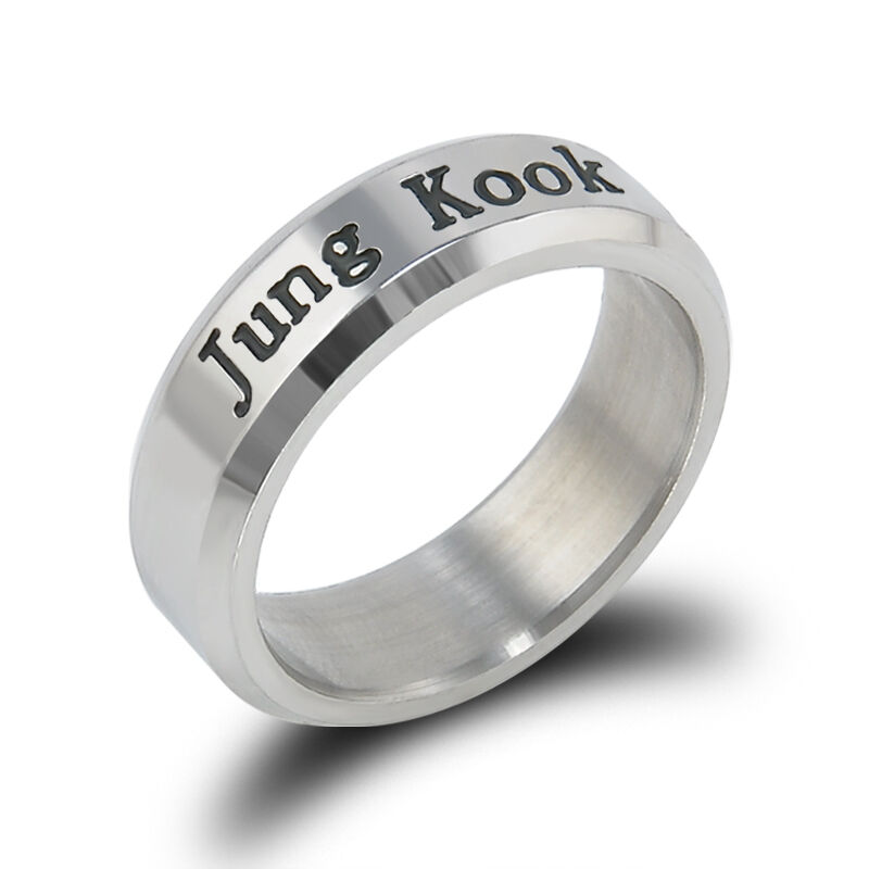 BANGTAN BOYS BTS RING STAINLESS STEEL KPOP JUNGKOOK JIMIN JIN V SUGA J-HOPE New