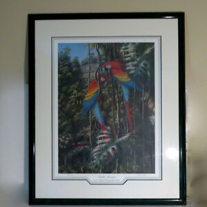 Limited Edition Picture Print Scarlet Macaws 58/500 F.P. Bennett Kitchener / Waterloo Kitchener Area image 1