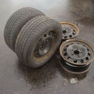 """16"""" BMW rims and tires"""