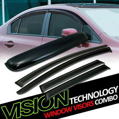For 15-17 Nissan Murano Sun Rain Wind Vent Window Visors+Moonroof Roof -