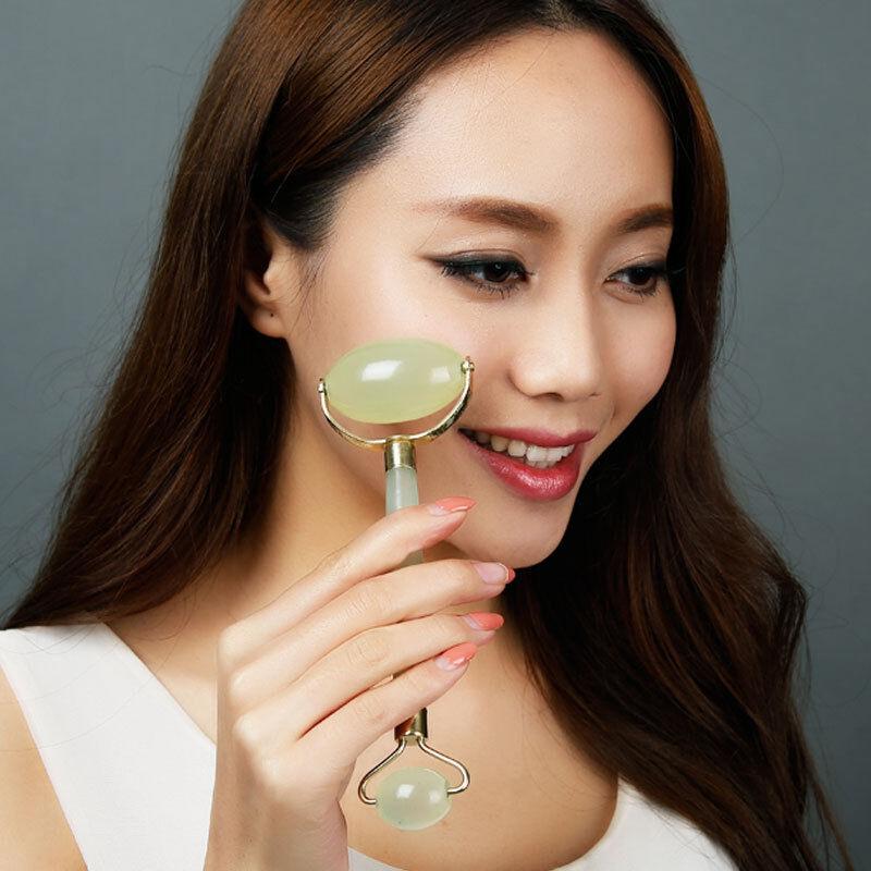 4in1 Elektrische Jade Roller Massagegerät Gesicht Hals Slimming Anti Falten