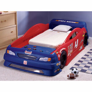 Used Step 2 Race Car Toddler/Twin bed