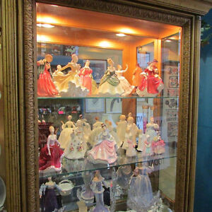 ROYAL DOULTON FIGURINES & VINTAGE HOME DECOR COSTUME JEWELLERY