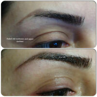 Fixing  Bad shaped Eyebrow Tattoos and Colour Correction