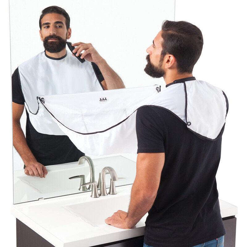 Bart Rasieren Schürze Kap Versammeln Lätzchen Tuch Gesichts Haar Whisker Besatz
