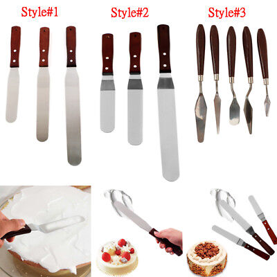 Stainless Steel Preferred Angled Spatula Cake Decorating Tool Icing Smoother Set (Cake Spatula)