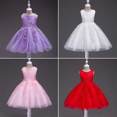 Baby-prinzessin (Blumenmädchen Baby Prinzessin Lace Brautjungfer Hochzeitskleid Kleid Tüll Tutu)