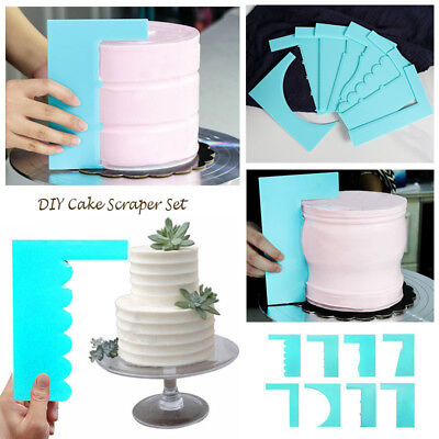 Easy Plastic Cake Smoother Cake Scraper Spatula For Baking Cake Decorating Tools (Cake Spatula)