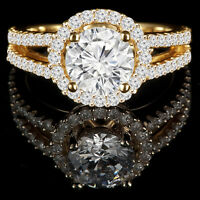 Diamond engagement ring 1.75CTW Bague de fiançailles or jaune