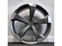 """19"""" Black Edition Style alloy wheels and tyres (5x112) Suits most Audi A3,A4, VW &Seat Leon etc"""