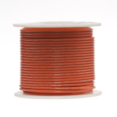 30 Awg Gauge Stranded Hook Up Wire Orange 250 Ft 0.0100 Ptfe 600 Volts