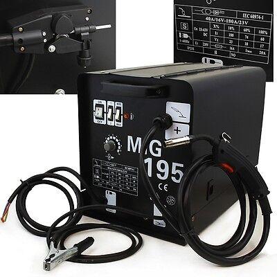 195 Amp Mig Mag 220v Welder Flux Stainless Aluminum Welding Machine Gas No Gas
