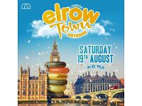 4 x elrow Town tickets - 19th August - Olympic Park - £80.00 each