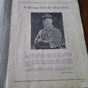 Official Programme Boy Scouts District of Toronto Cyclorama 1939 Kitchener / Waterloo Kitchener Area image 3
