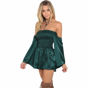 **BRAND NEW** Green Off Shoulder Romper