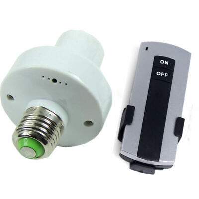 Wireless Remote Control E27 Lamp Holder Light Bulb Cap Outlets Switch Screw