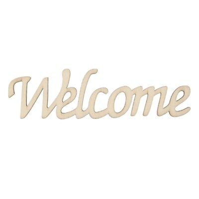 Welcome Letters Wooden Hanging Sign Wall Decal Sticker Wedding Party Home Décor