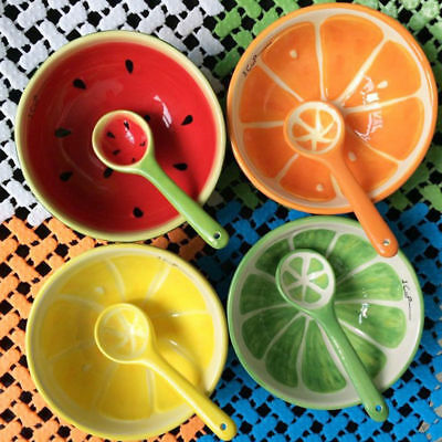 Watermelon Fruit Bowl (Ceramic Bowl Hand Painted Fruit Watermelon Bowl Soup Ceramic Bowl 3 Piece)