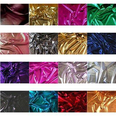 16 COLORS COSTUME 4 WAY STRETCH LAME METALLIC SPANDEX LYCRA FABRIC ](Color Costume)
