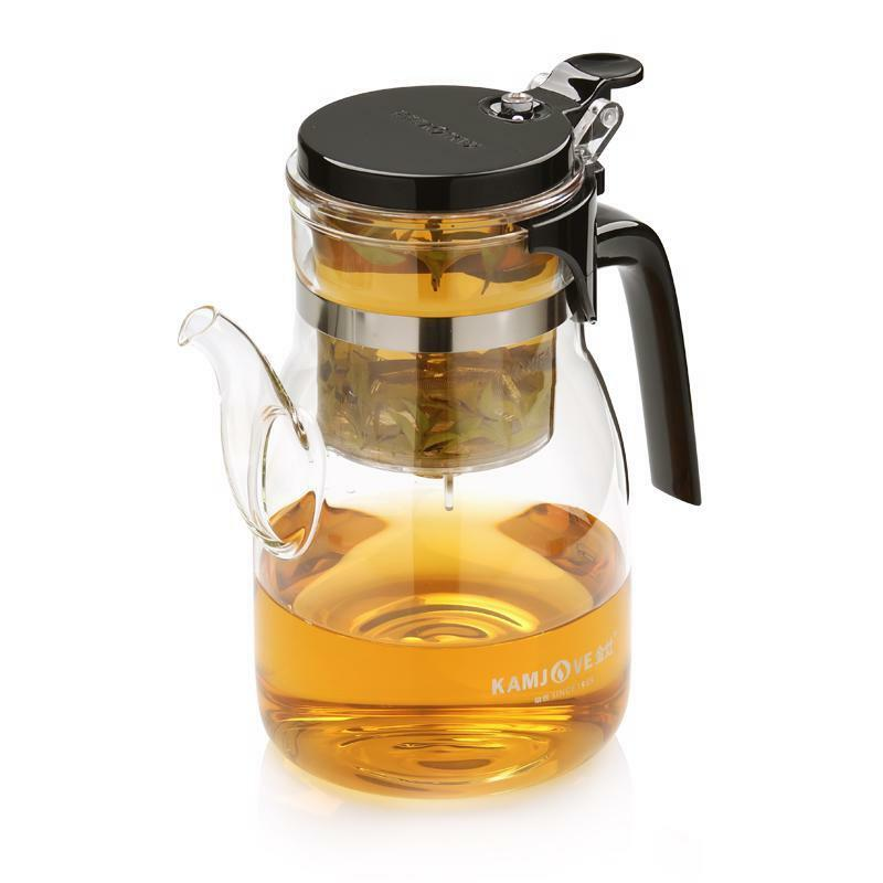 Teapot Kettle Glass Kitchen Coffee Tea Makers Elegant Home D