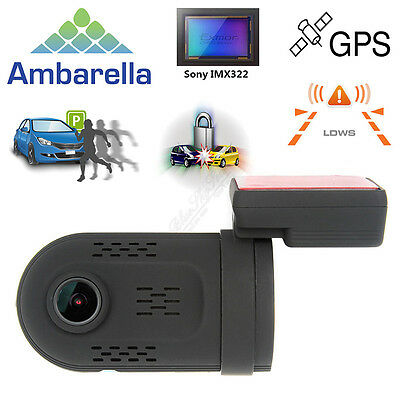 Mini 0807 Ambarella A7 1080P HD Capacitor Car Dash Cam GPS Vehicle Camera DVR