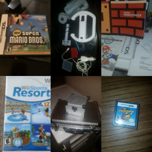 Random Nintendo accessories and manuals, retro and newer