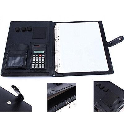 A4 Executive Conference Folder Portfolio Leather Document Organiser Calculator