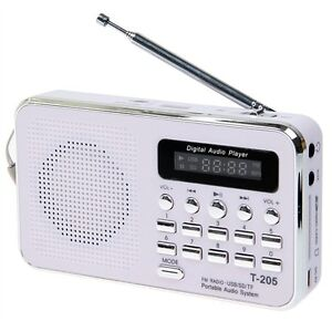 Stylish Digital Multimedia Speaker FM Radio Support SD/ MMC/ TFCard/ USB (White)
