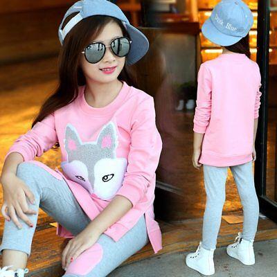 Children Clothing Girls Sets Long Sleeve Tracksuit For Girls Clothes Sport Suit (Clothing For Girls)