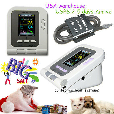 Usa Contec08a-vet Digital Blood Pressure Monitorveterinary Nibp Meter Cufffda