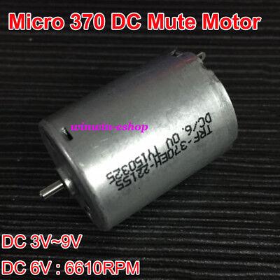 Dc 3v-9v 6v 6610rpm Rf-370 Mute Micro Mini Carbon Brush 370 Motor For Diy Parts