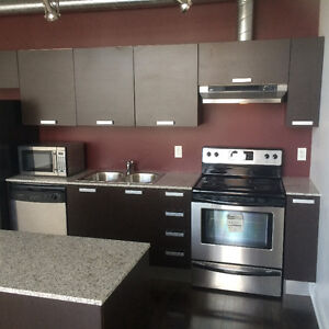 Kitchen cabinets with granite counter & sink and faucet