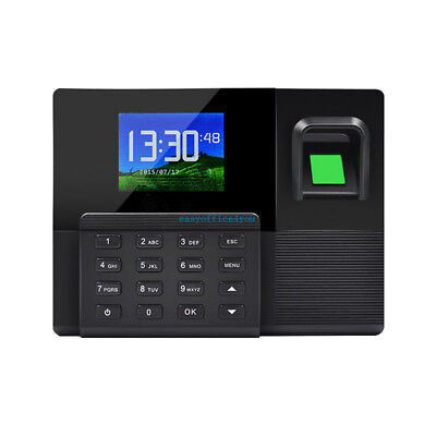Color Display Tcpip Fingerprint Time Clock Employee Payroll Recorder Punch