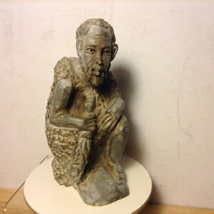 Old Africa Sculpture Bust Soapstone