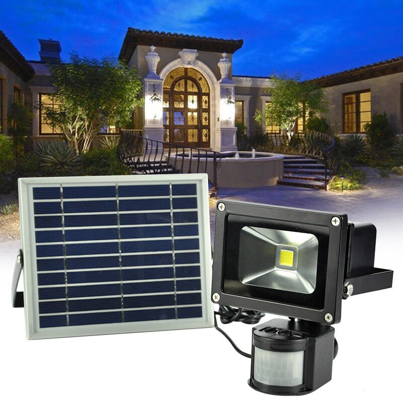Details About 20w Led Solar Pir Sensor Light Security Detector Garden Flood Street Lamp