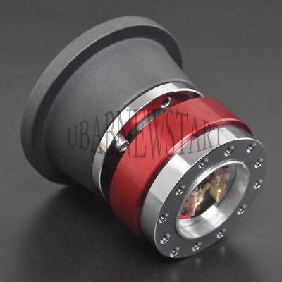 Lenkrad Schnellverschluss Adapter & Radnabe Boss Kit für Ford Mstang Rot