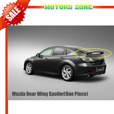 For 09-12 Mazda 6 Sedan 4 Doors UNPAINTED Rear Wing Spoiler OE Style No Light