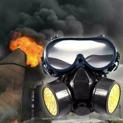 Profi Gasmaske Aktivkohle- Lackiermaske Atemschutzmaske mit Gläser +2 Filtern