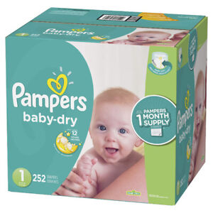240 pampers diapers size 1