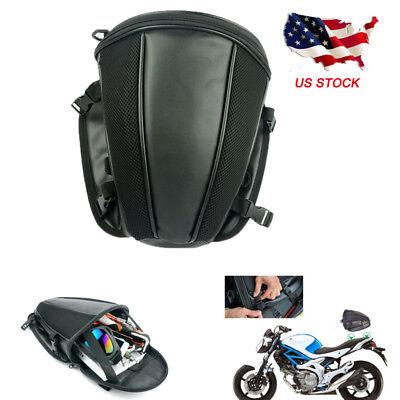 Motorcycle Bike Tail Bag Saddlebag Sports Luggage Waterproof Back Seat Carry Bag