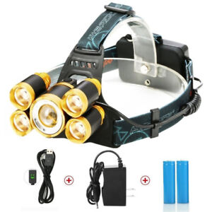 LED Headlamp Zoomable Headlight Waterproof Head torch