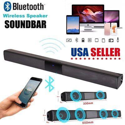 Wireless Bluetooth Sound Bar Speaker System TV Home Theater Soundbar Subwoofer
