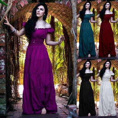 Victorian Dress Halloween Costumes (Womens Renaissance Dress Medieval Halloween Cosplay Costume Victorian Ball)