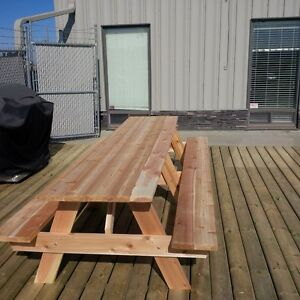 Cedar Picnic Table Kits - 3ft to 10ft sizes West Island Greater Montréal image 5
