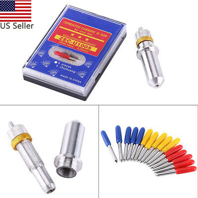 15pcs 304560 Degrees Vinyl Cutter Plotter Roland Bladesroland Blade Holder Us