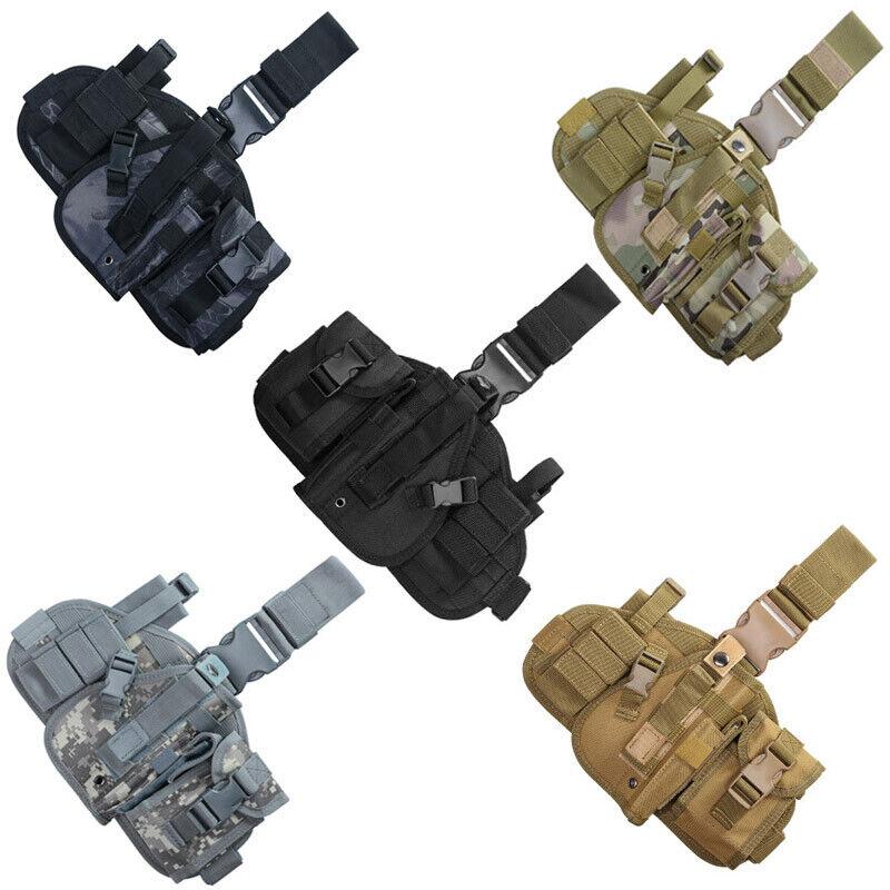 Right Hand Adjustable Pistol/Gun Drop Puttee Leg Thigh Holster Pouch US Holsters