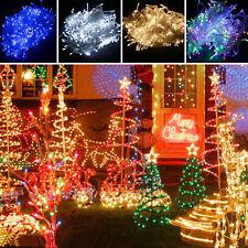 100-1000 LED Guirlande Lumineuse Noel Fête Lampe Exterieur Sapin Deco FR SHIP