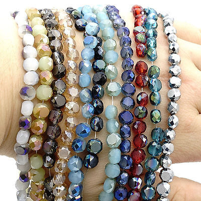 Crystal Drum (Wholesale 50pcs Drum Faceted Rondelle crystal glass  Loose Bread beads 6mm DIY)