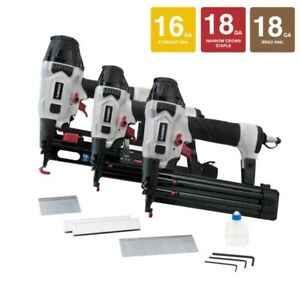 Husky Pneumatic Finish Nailer Kit DP3PFKCB