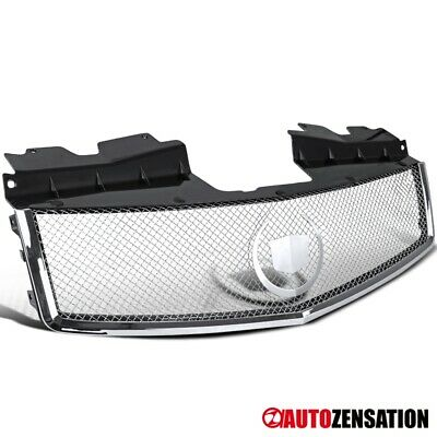 03-07 Cadillac CTS Chrome Hood Grille & Stainless Mesh+Wreath